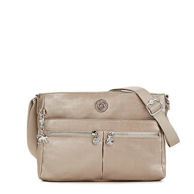 Angie Metallic Handbag - Metallic Stone