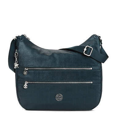 Bridget Metallic Handbag - Blended Blue Metallic