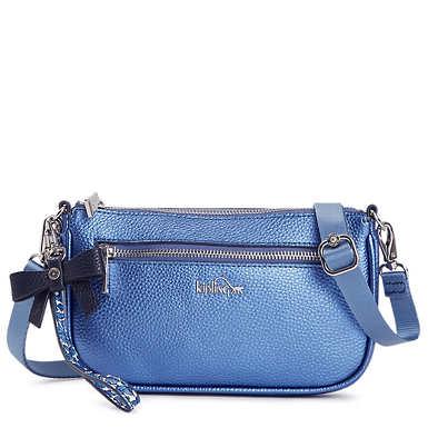 Happy 3-in-1 Metallic Handbag - Metallic Scuba Diver Blue