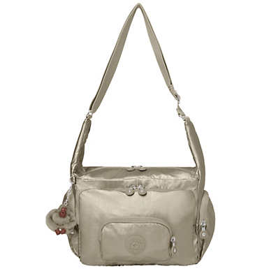 Erica Metallic Handbag - Metallic Pewter