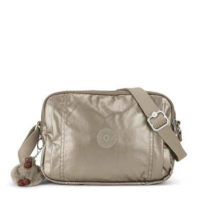 Benci Metallic Handbag - Metallic Pewter