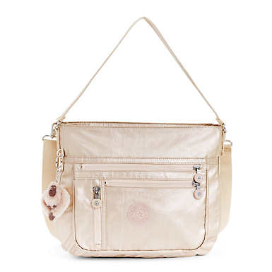 Elody Metallic Handbag - Sparkly Gold