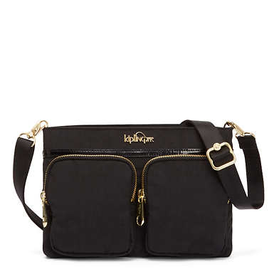 Tessa 5-in-1 Convertible Handbag - Black Patent Combo
