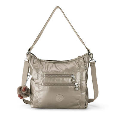 Belammie Metallic Handbag - Metallic Pewter