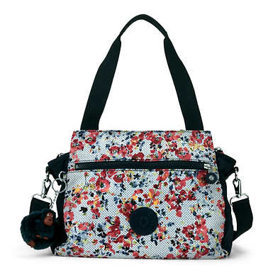 Elysia Printed Handbag - Busy Blossoms Blue Combo