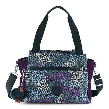 Elysia Printed Handbag - Dotted Bouquet Combo
