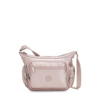 Gabbie Small Metallic Crossbody Bag - Metallic Rose