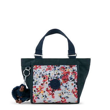 New Shopper Printed Mini Bag - Busy Blossoms Blue Combo