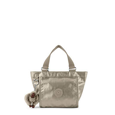 New Shopper Mini Metallic Mini Bag - Metallic Pewter