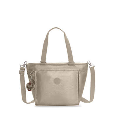 New Shopper Extra Small Metallic Mini Bag - Metallic Pewter