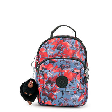 Alber 3-in-1 Printed Convertible Mini Bag Backpack  - Festive Floral