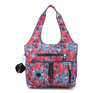 Anet Printed Handbag - Festive Floral Combo