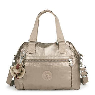Cora Metallic Handbag - Metallic Pewter