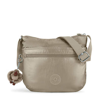 Arto Metallic Crossbody Bag - Metallic Pewter