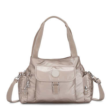 Felix Large Metallic Handbag - Metallic Glow