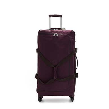 Large Rolling Luggage - Dark Plum