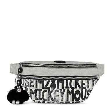Disney's 90 Years of Mickey Mouse Yasmina Fanny Pack - Black white Combo