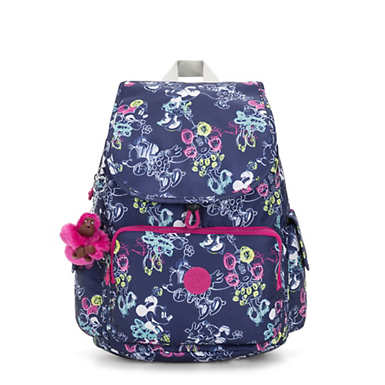 키플링 Kipling Citypack샵디즈니 Disneys Minnie Mouse and Mickey Mouse City Pack Backpack,DOODLE BLUE