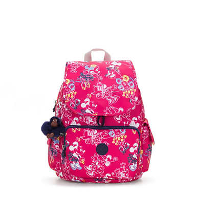 키플링 Kipling Citypack샵디즈니 Disneys Minnie Mouse and Mickey Mouse City Pack Backpack,DOODLE PINK