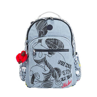 "Disney's 90 Years of Mickey Mouse Seoul Go Large 15"" Large Laptop Backpack - Three Cheers"