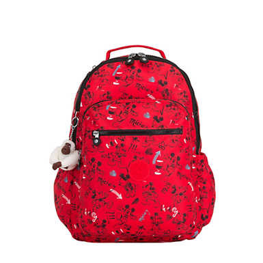 Disney's Minnie Mouse and Mickey Mouse Seoul Go Large Laptop Backpack - Sketch Red