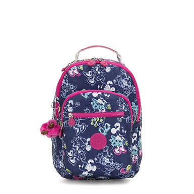 Disney's Minnie Mouse and Mickey Mouse Seoul Go Small Backpack - DOODLE BLUE