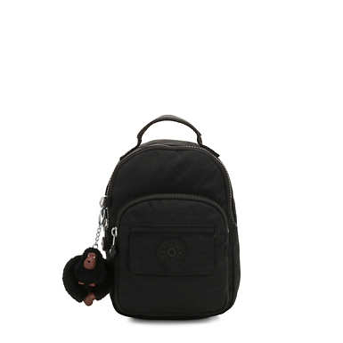 키플링 Kipling Alber3-In-1 Convertible Mini Bag Backpack,True Black