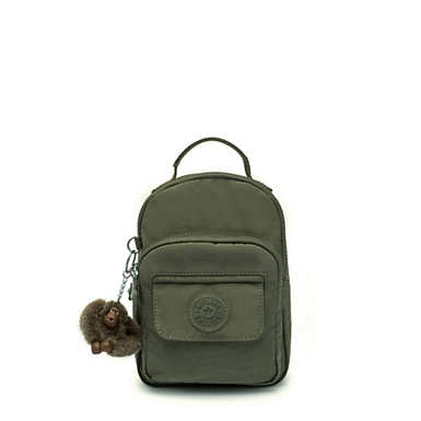 Alber 3-In-1 Convertible Mini Bag Backpack - Jaded Green Tonal Zipper