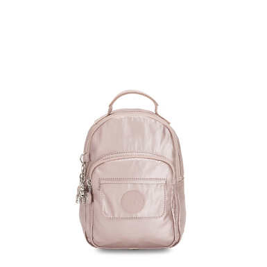 Alber 3-In-1 Convertible Mini Metallic Backpack - Metallic Rose