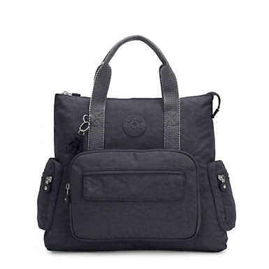 키플링 Kipling Alvy 2-In-1 Convertible Tote Bag Backpack,Night Grey