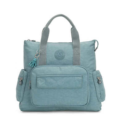 키플링 Kipling Alvy 2-In-1 Convertible Tote Bag Backpack,Aqua Frost