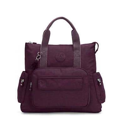 Alvy 2-In-1 Convertible Tote Bag Backpack - Dark Plum