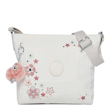 Austin Handbag - Alabaster Flower Tonal Zipper
