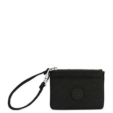 Cindy Card Case - Black Tonal Zipper