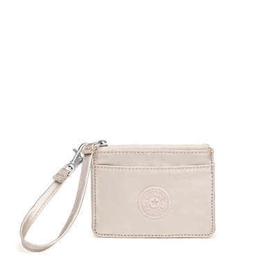 Cindy Metallic Wristlet - Cloud Grey Metallic