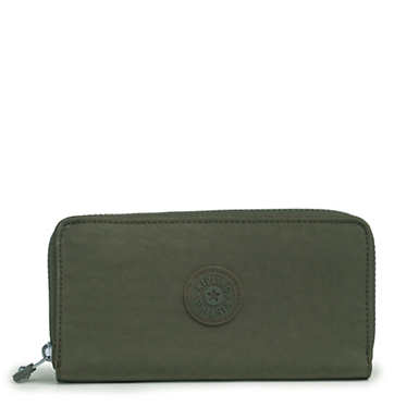 Jessi Large Zip Around Wallet - Jaded Green Tonal Zipper