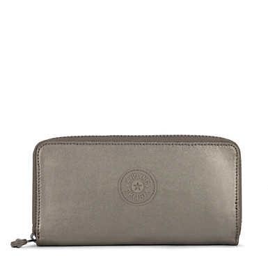 Jessi Metallic Large Wallet - Metallic Pewter