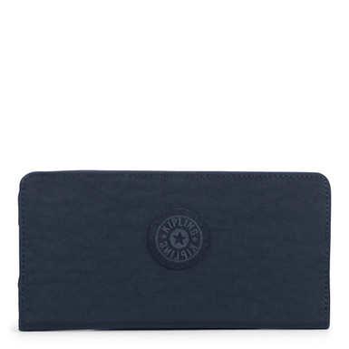 Joanna Slim Wallet - True Blue Tonal Zipper