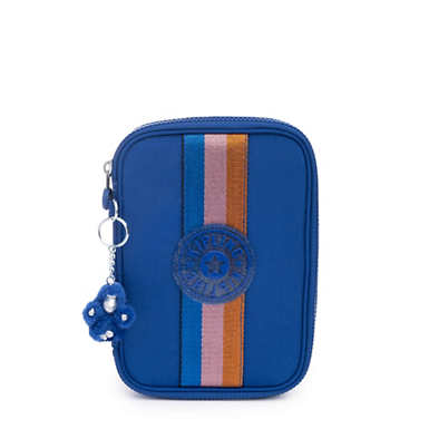 100 Pens Case - Blue Tropics Tonal Zipper