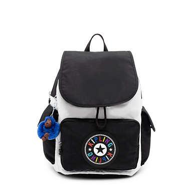 City Pack Medium Backpack - Black white Combo