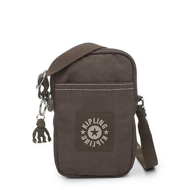 키플링 Kipling DalyPhone Crossbody Bag,Soft Earthy Beige Tonal Zipper