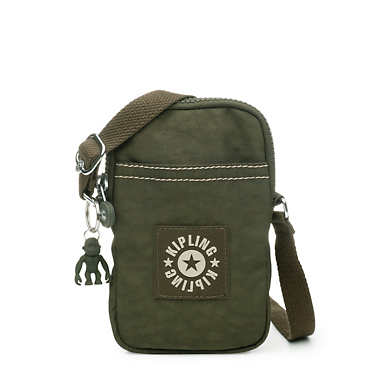 키플링 Kipling DalyPhone Crossbody Bag,Jaded Green Tonal Zipper