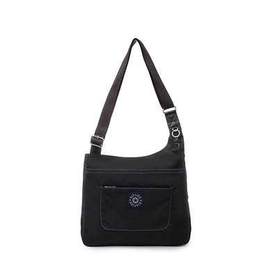 Delilah Crossbody Bag - Black Tonal Zipper