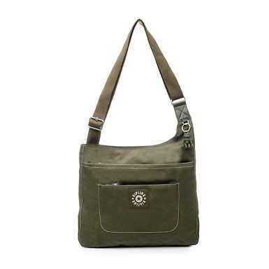 키플링 Kipling DelilahCrossbody Bag,Jaded Green Tonal Zipper