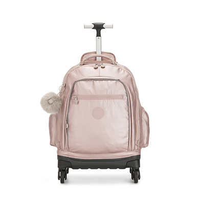 Echo II Metallic Rolling Backpack - Metallic Rose