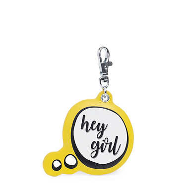 Hey Girl Keychain Charm - Pumpkin Orange