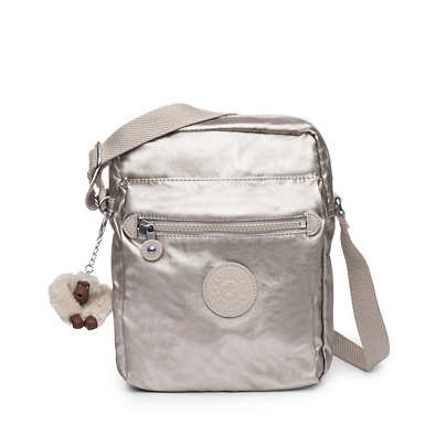 Livie Small Metallic Crossbody Bag - Cloud Grey Metallic