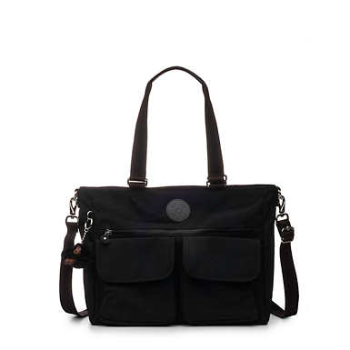 Pia Tote Bag - Black Tonal Zipper