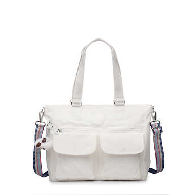Pia Tote Bag - Alabaster Tonal Zipper
