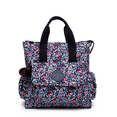 Revel Printed Convertible Backpack - Glistening Poppy  Blue